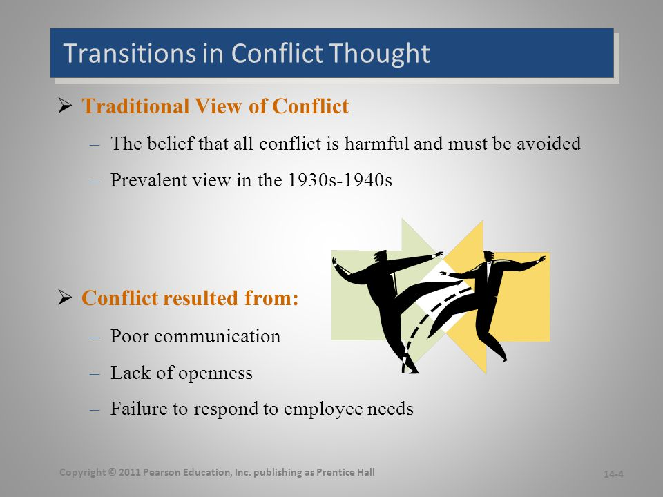 Continued Transitions in Conflict Thought