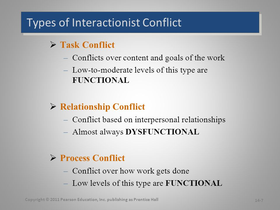 The Conflict Process We will focus on each step in a moment…