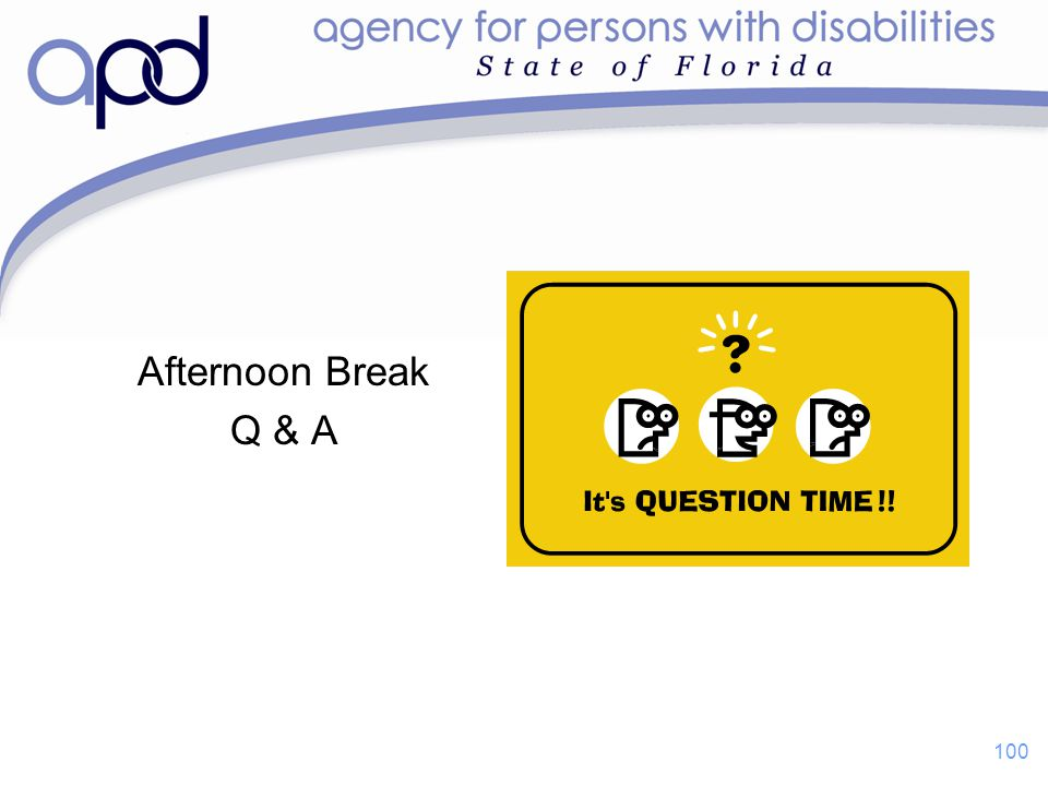 Afternoon Break Q & A