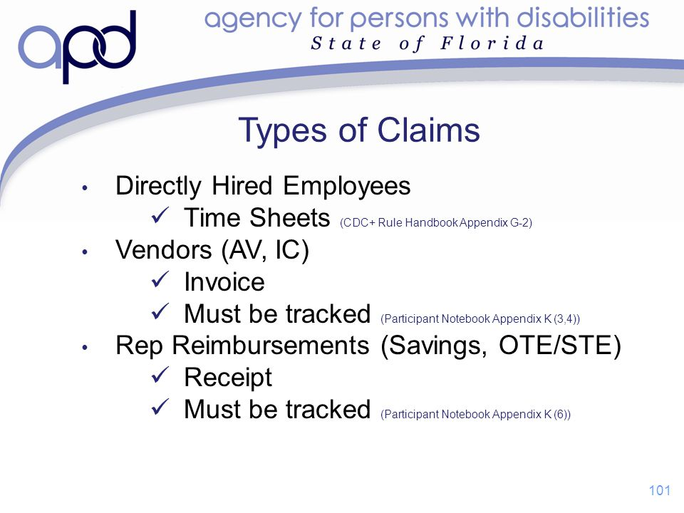 Types of Claims Directly Hired Employees