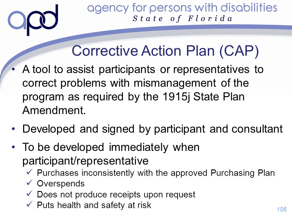 Corrective Action Plan (CAP)