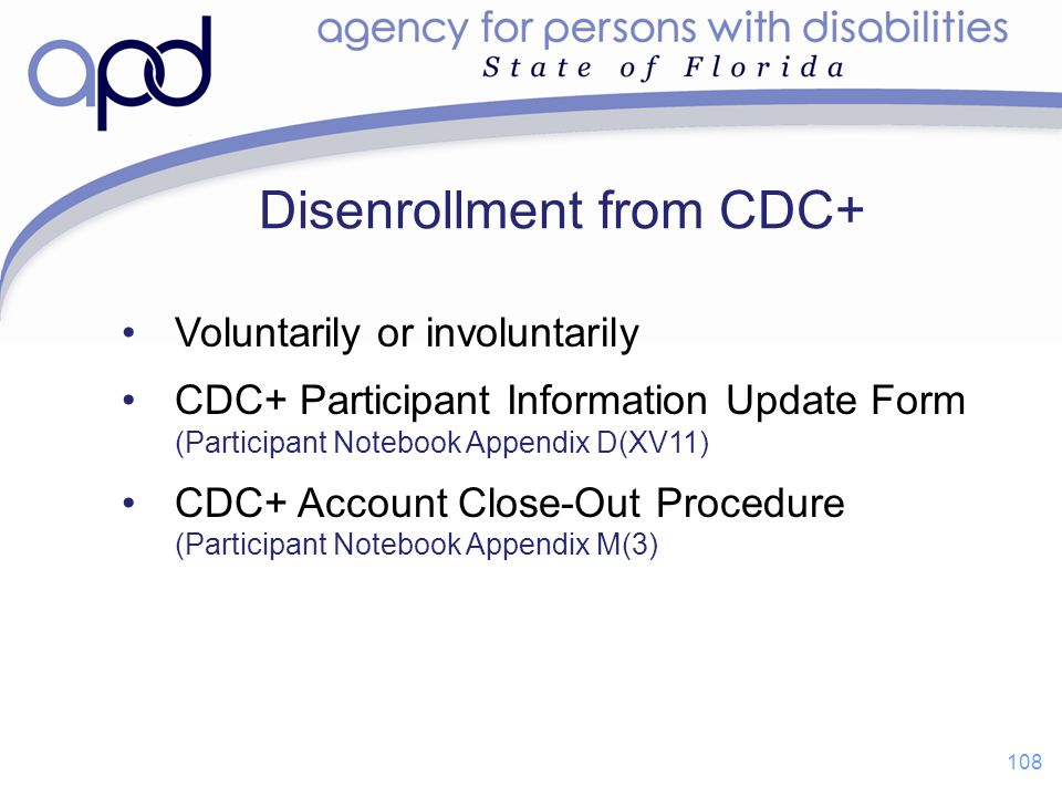 Disenrollment from CDC+