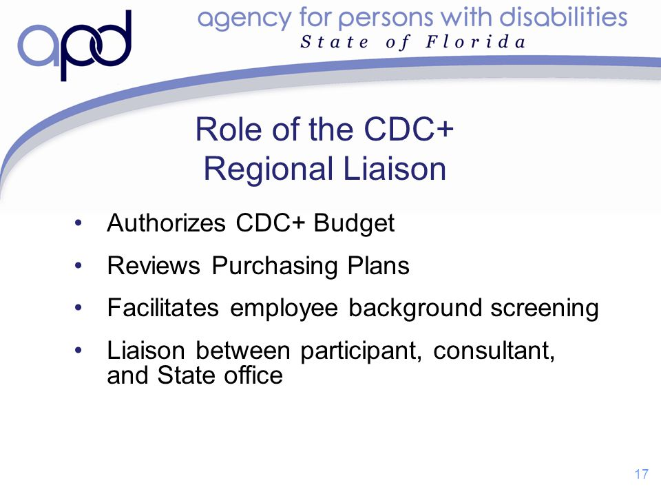 Role of the CDC+ Regional Liaison