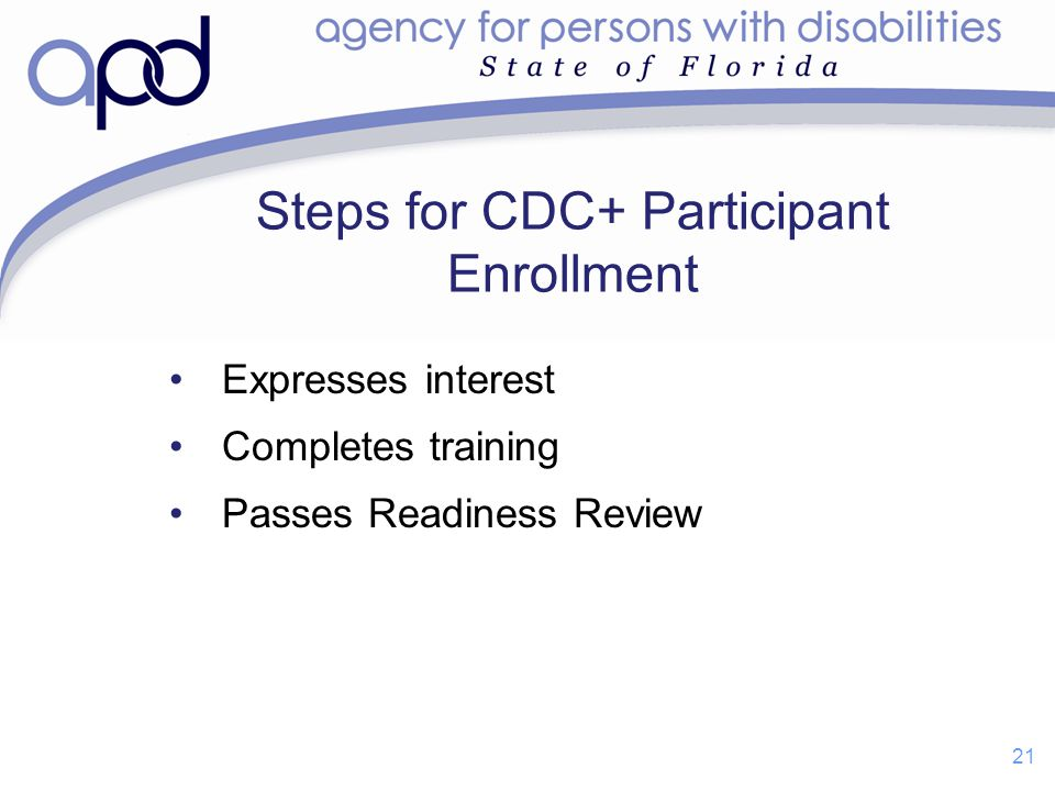 Steps for CDC+ Participant