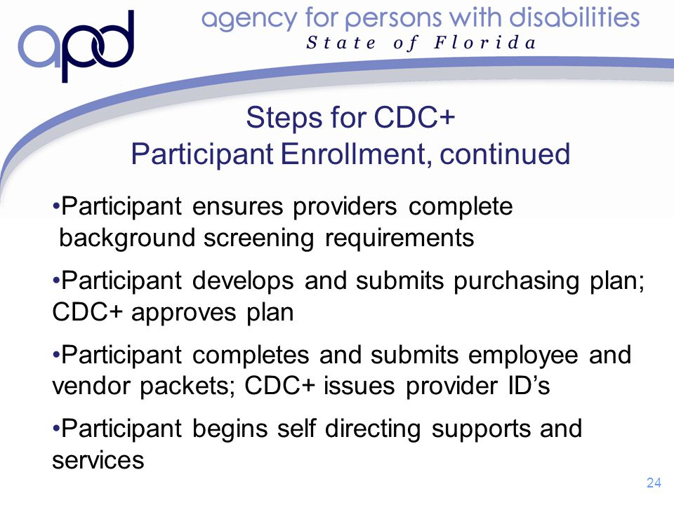 Steps for CDC+ Participant Enrollment, continued