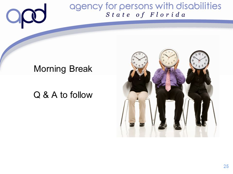 Morning Break Q & A to follow