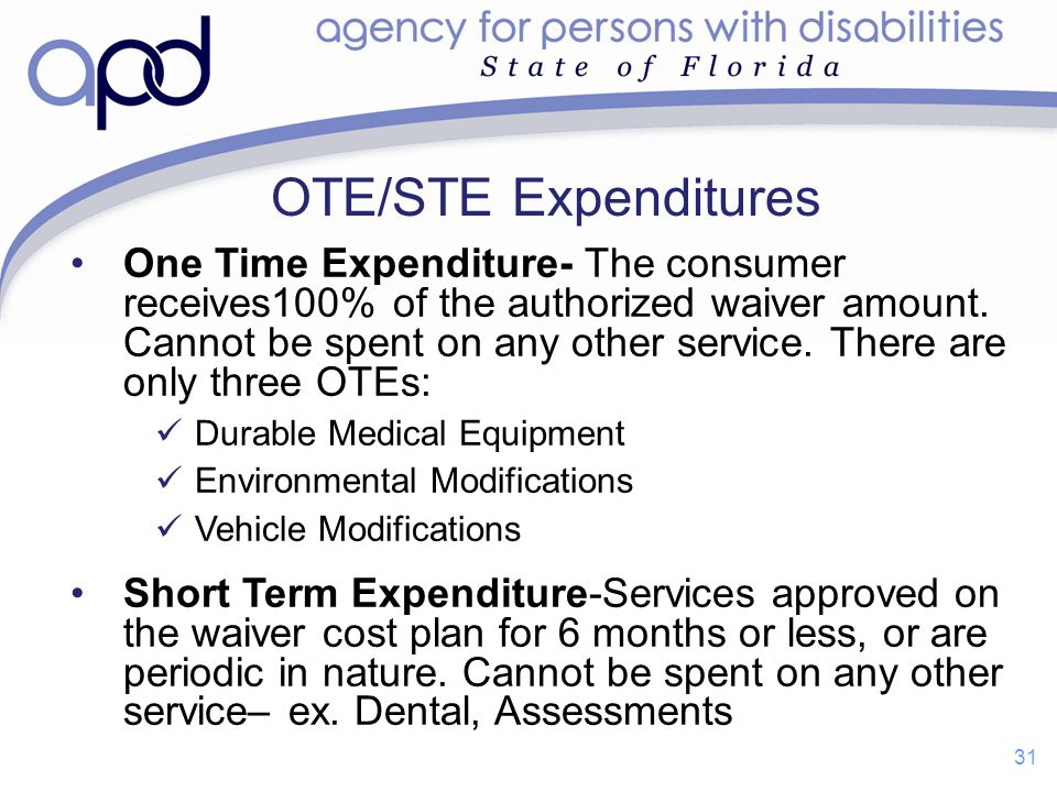 OTE/STE Expenditures