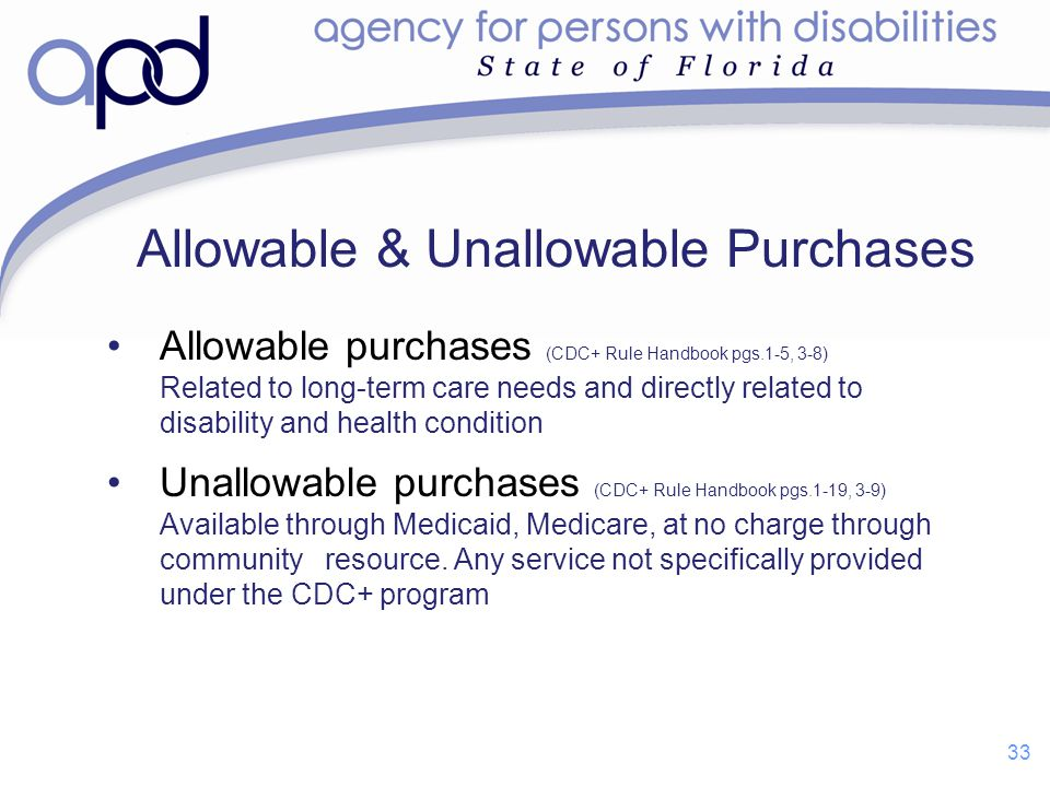 Allowable & Unallowable Purchases
