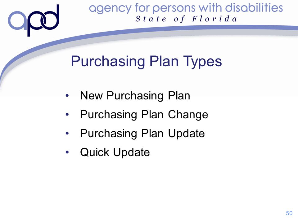 Purchasing Plan Types New Purchasing Plan Purchasing Plan Change