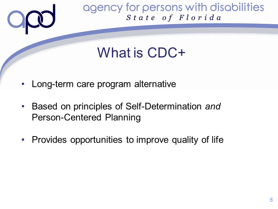 What is CDC+ Long-term care program alternative