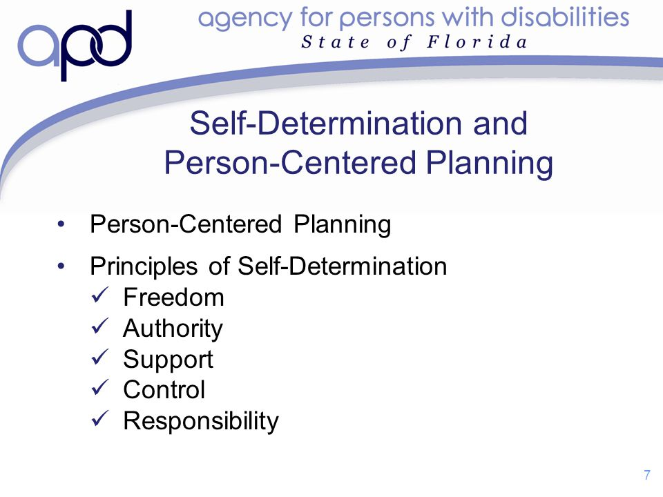 Self-Determination and Person-Centered Planning