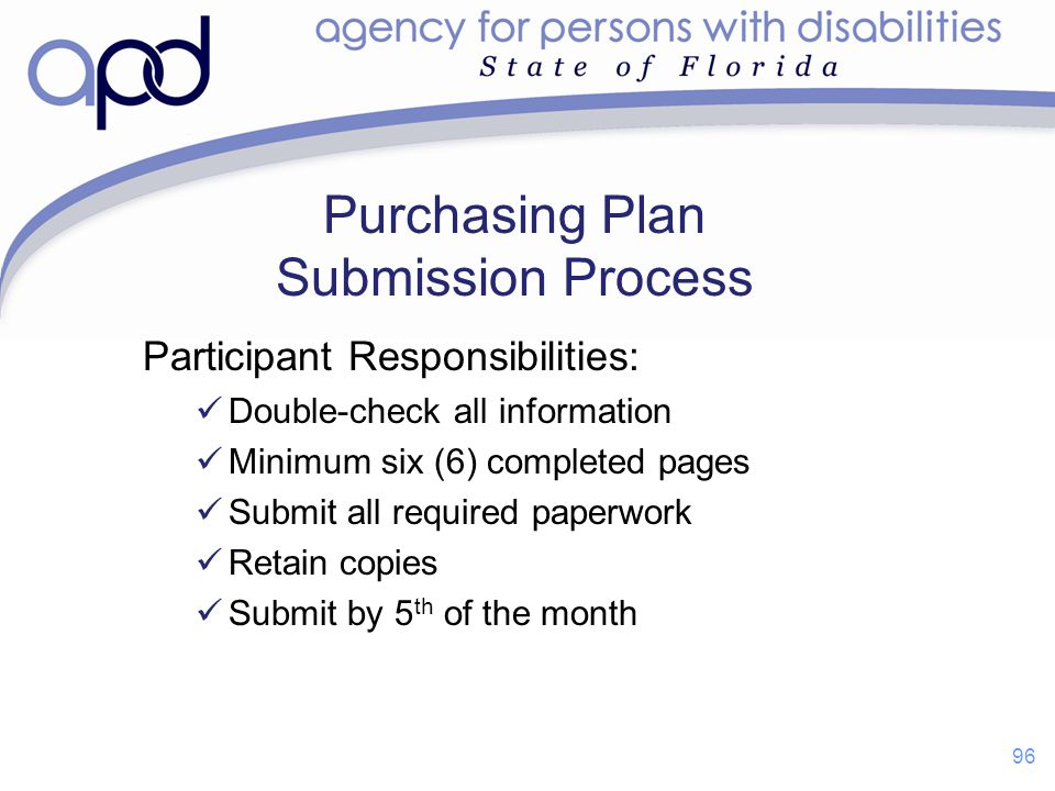 Purchasing Plan Submission Process