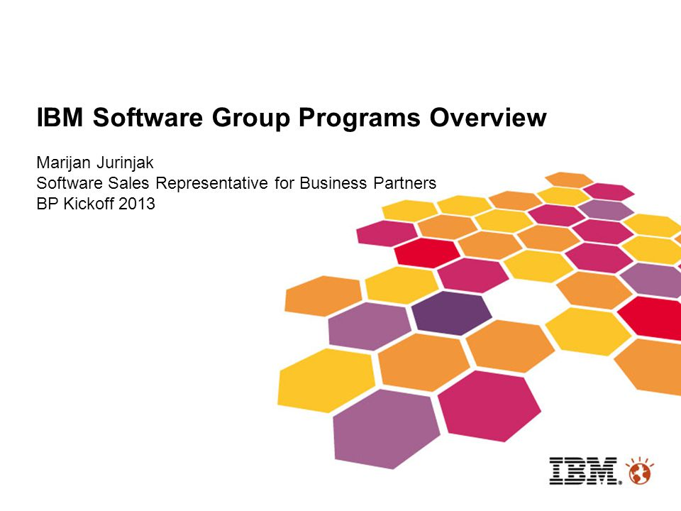 IBM Software Group Programs Overview