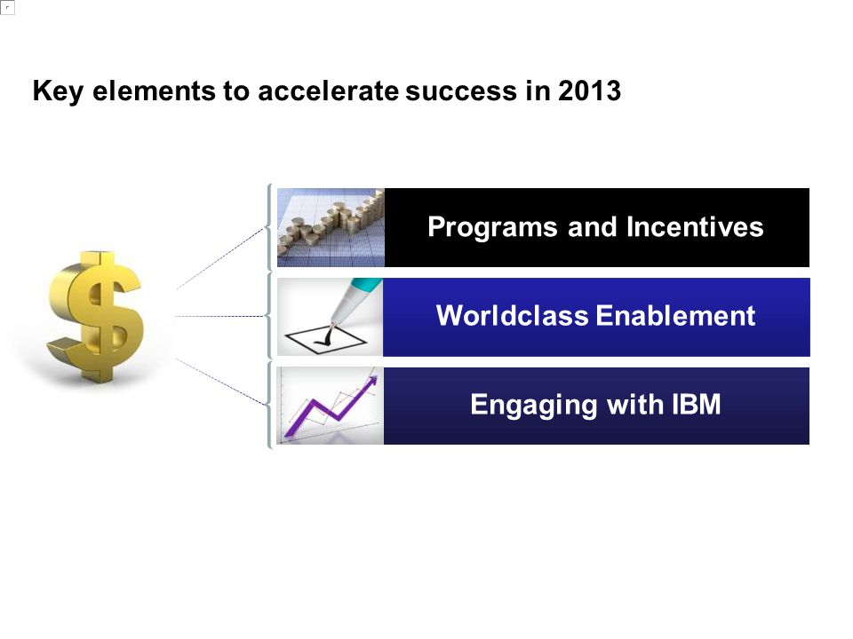 Key elements to accelerate success in 2013
