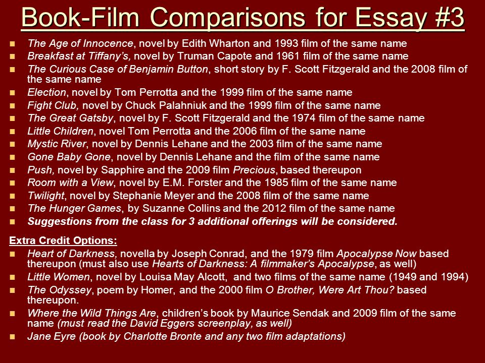 the curious case of benjamin button film and book comparecontrast essay Move to the curious case of benjamin button the curious case of benjamin button to the curious case of benjamin button (film) to a recent essay.
