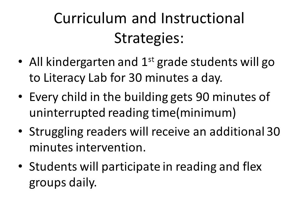 Curriculum and Instructional Strategies: