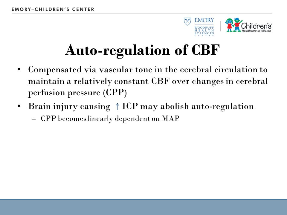 Auto-regulation of CBF