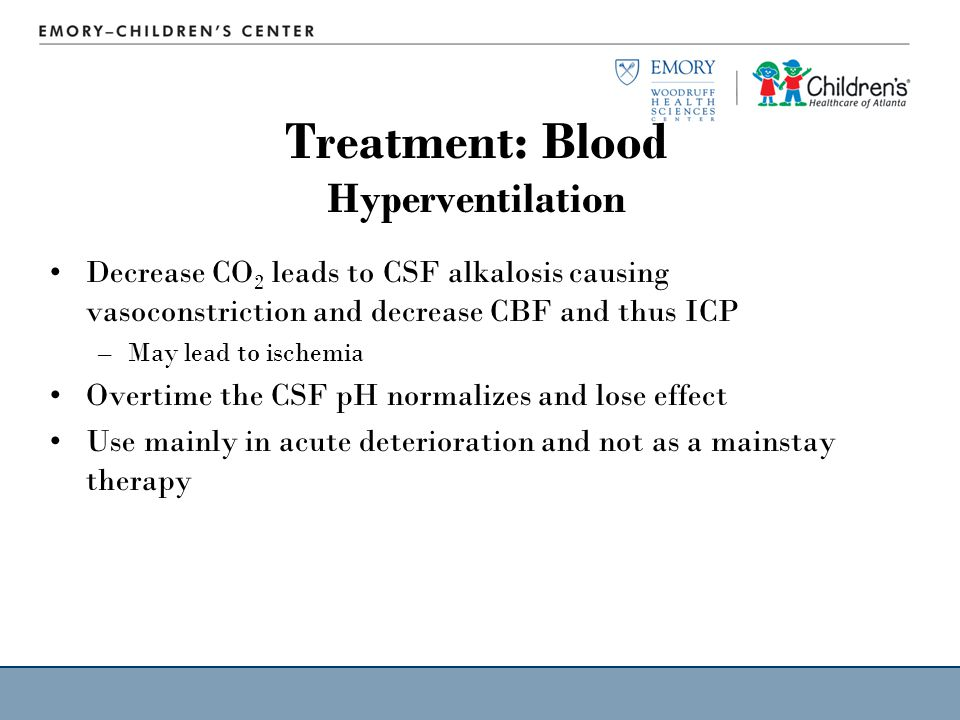 Treatment: Blood Hyperventilation