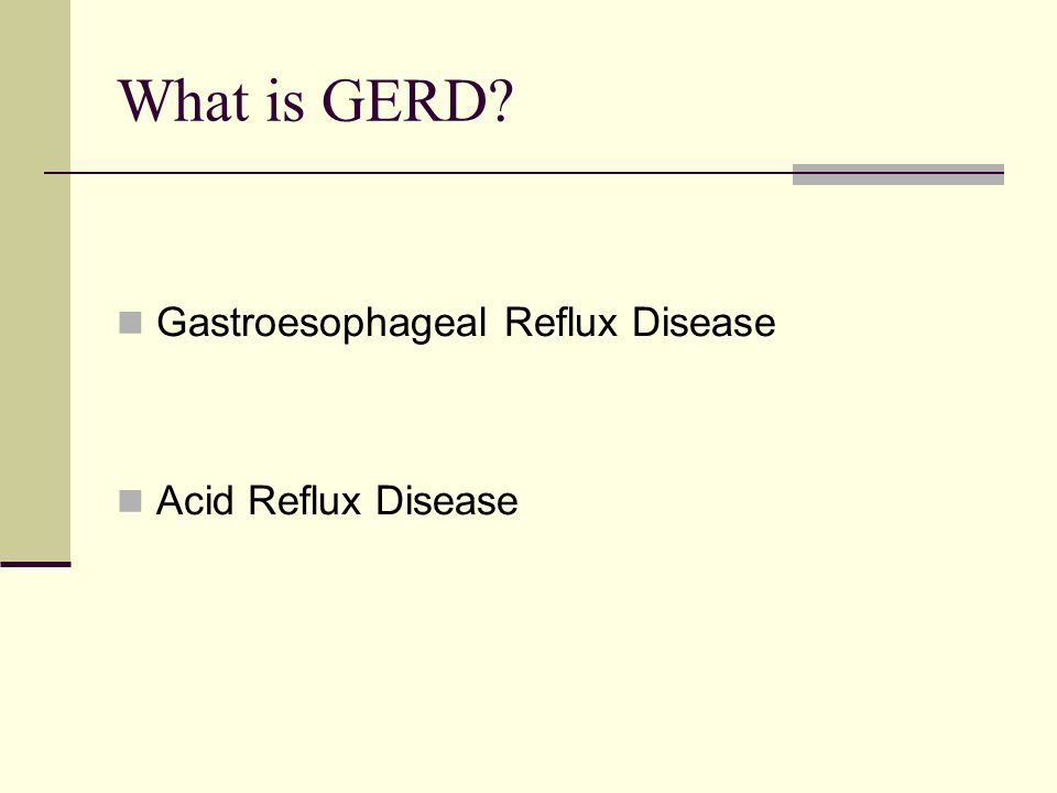 What is GERD Gastroesophageal Reflux Disease Acid Reflux Disease