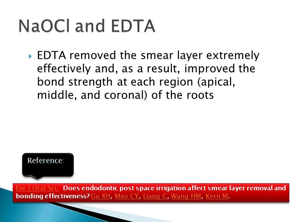 NaOCl and EDTA