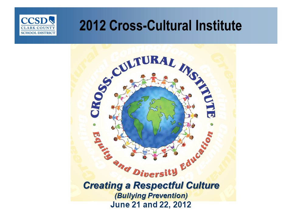 2012 Cross-Cultural Institute