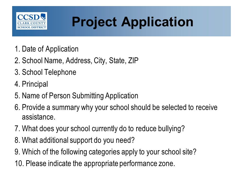 Project Application