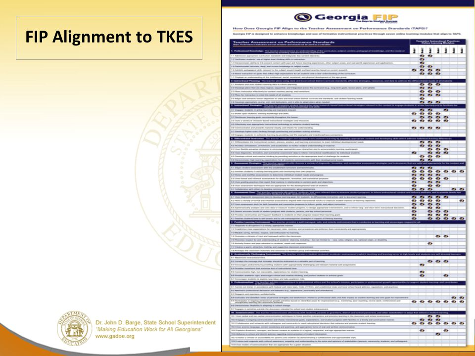 FIP Alignment to TKES