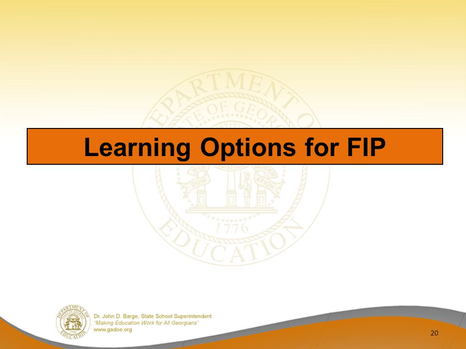 Learning Options for FIP