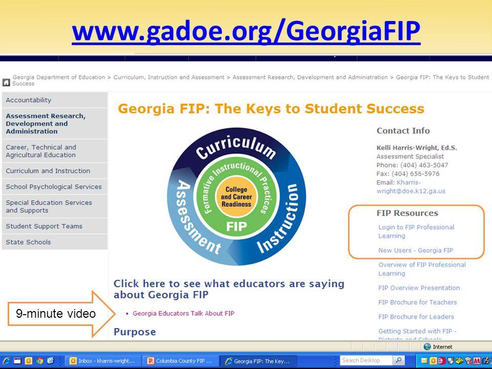 www.gadoe.org/GeorgiaFIP 9-minute video