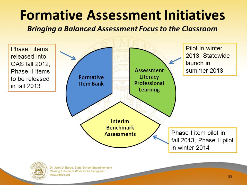 Formative Assessment Initiatives Bringing a Balanced Assessment Focus to the Classroom