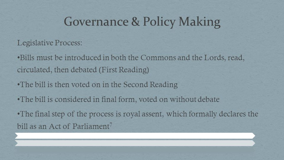 Governance & Policy Making