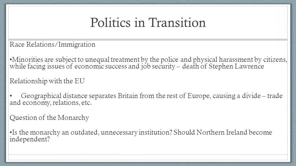 Politics in Transition