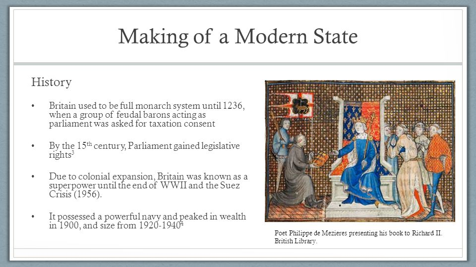 Making of a Modern State