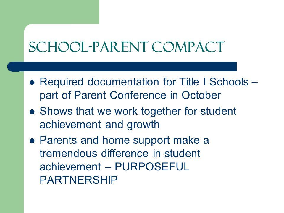 SCHOOL-PARENT COMPACT
