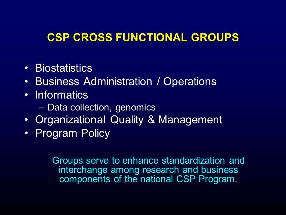 CSP CROSS FUNCTIONAL GROUPS