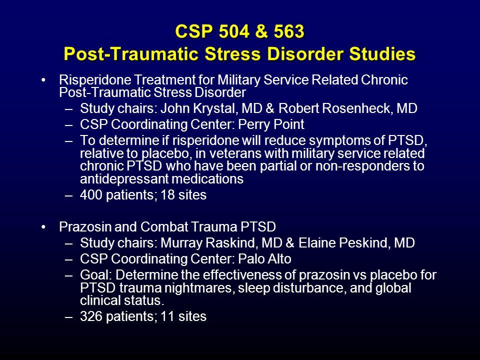 CSP 504 & 563 Post-Traumatic Stress Disorder Studies