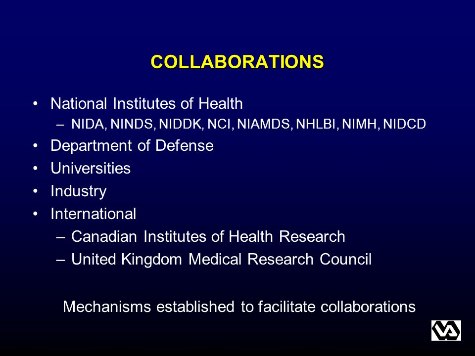 Mechanisms established to facilitate collaborations
