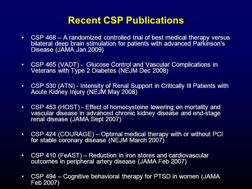 Recent CSP Publications