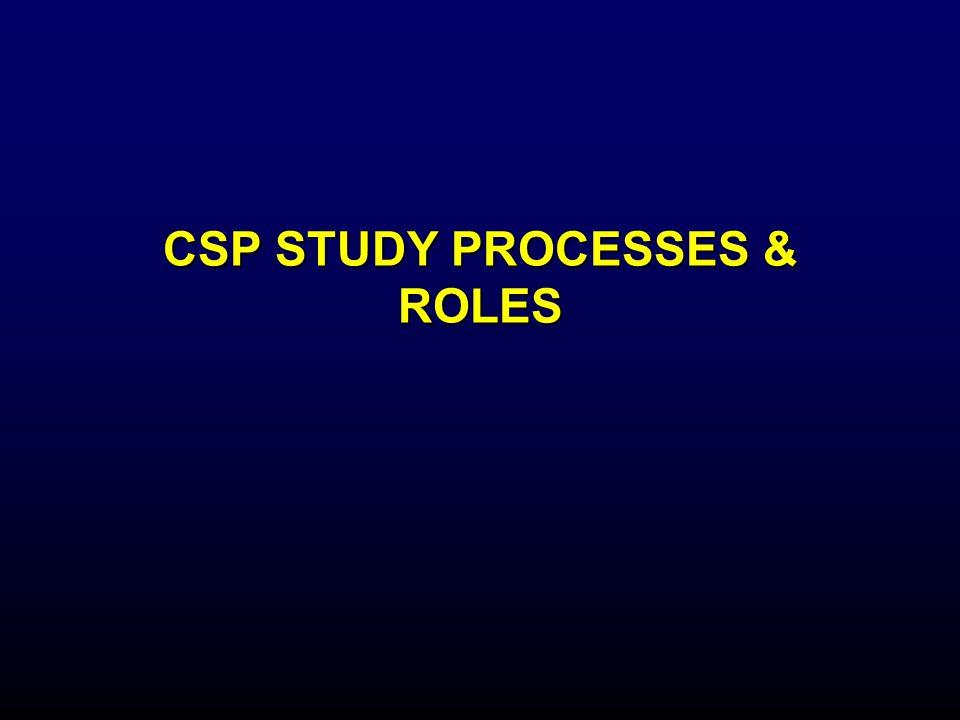 CSP STUDY PROCESSES & ROLES