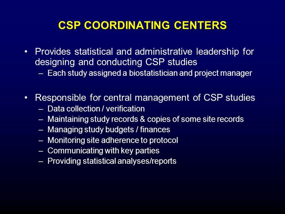 CSP COORDINATING CENTERS