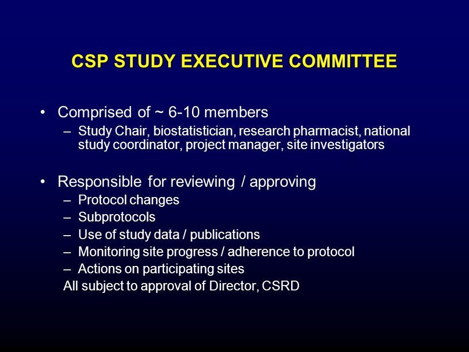CSP STUDY EXECUTIVE COMMITTEE