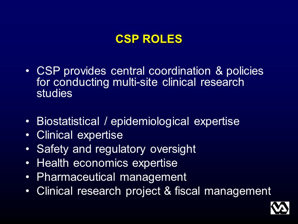 Biostatistical / epidemiological expertise Clinical expertise