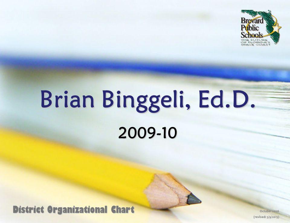Brian Binggeli, Ed.D. 2009-10 District Organizational Chart