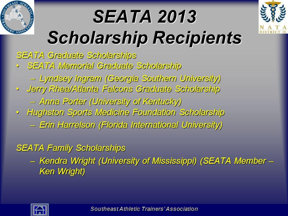 SEATA 2013 Scholarship Recipients