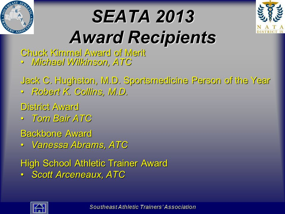 SEATA 2013 Award Recipients
