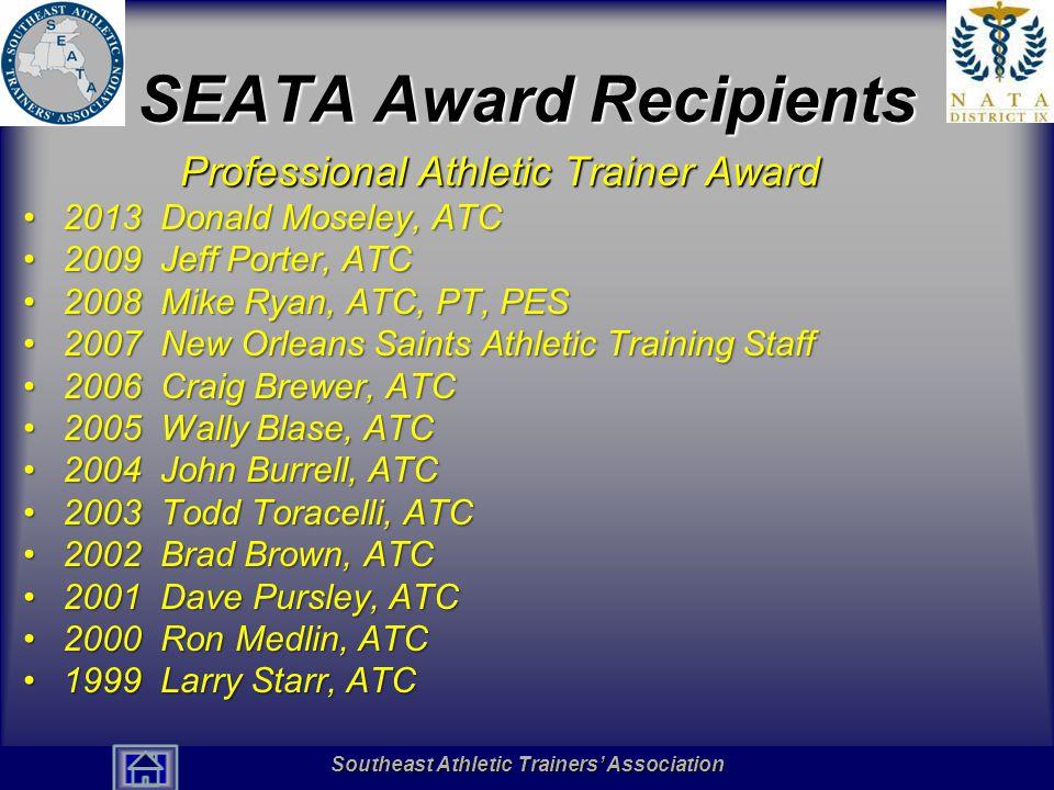 SEATA Award Recipients