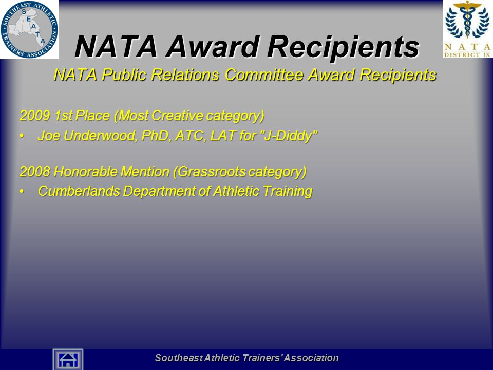 NATA Award Recipients NATA Public Relations Committee Award Recipients