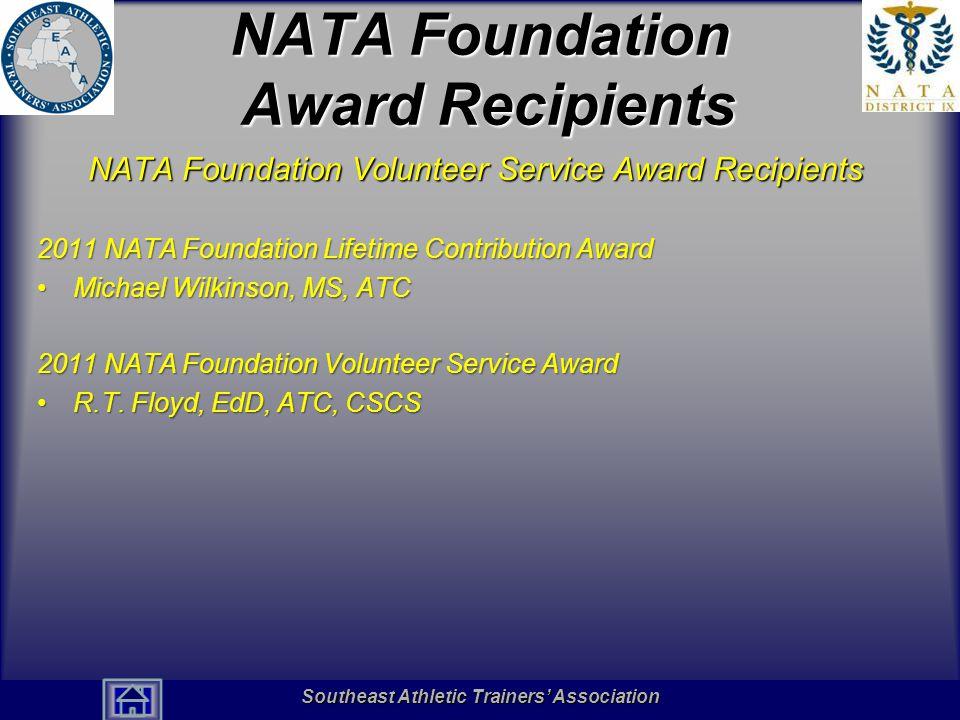 NATA Foundation Award Recipients