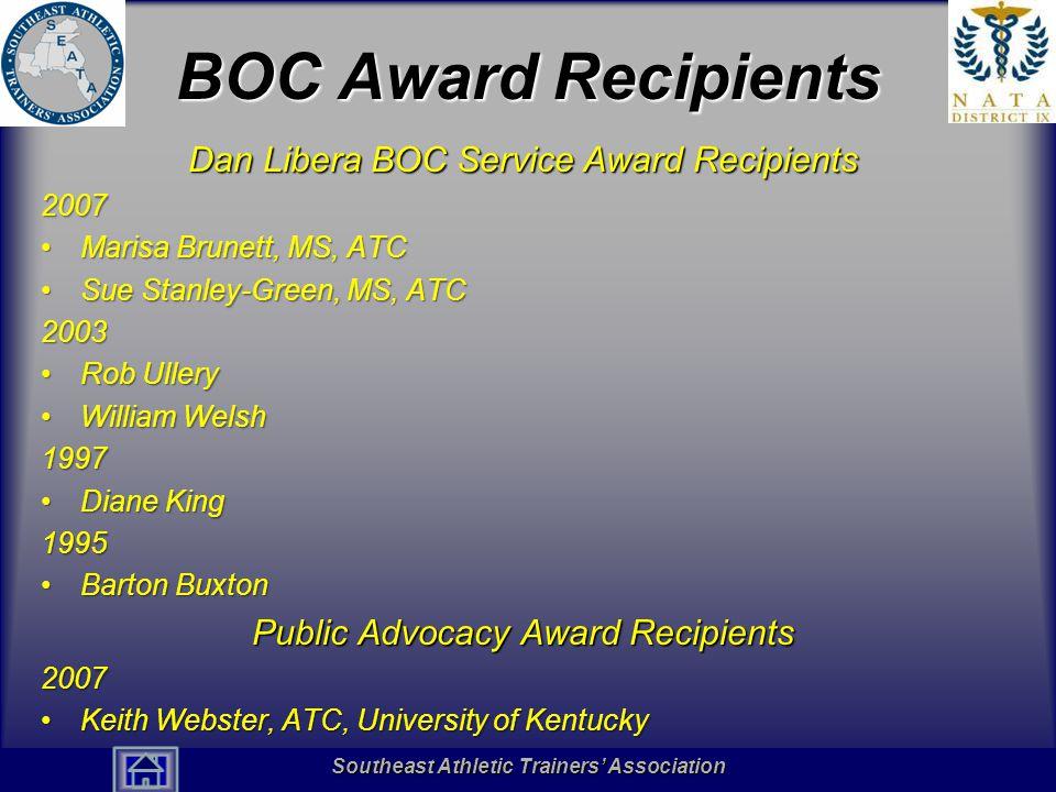 BOC Award Recipients Dan Libera BOC Service Award Recipients