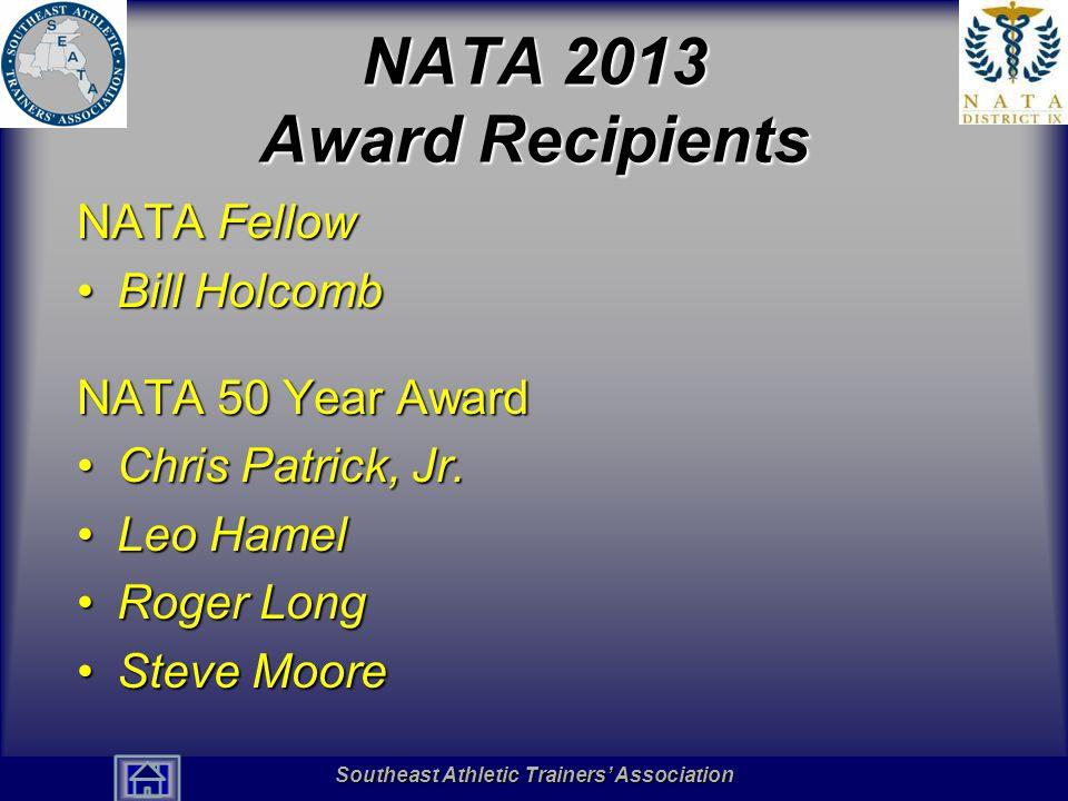 NATA 2013 Award Recipients NATA Fellow Bill Holcomb NATA 50 Year Award